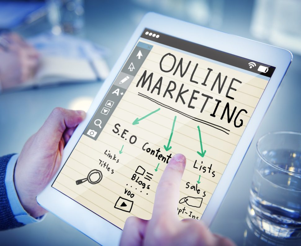 Online marketing tactics on an ipad